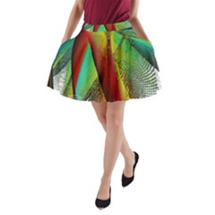 Stained Glass Window A Line Pocket Skirt by SugaPlumsEmporium