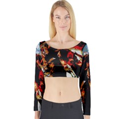 China Girl  Long Sleeve Crop Top
