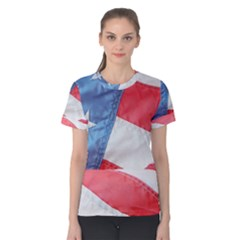Folded American Flag Women s Cotton Tee by StuffOrSomething