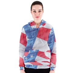 Folded American Flag Women s Zipper Hoodie by StuffOrSomething