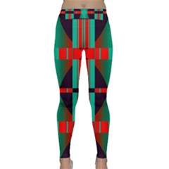 Vertical Stripes And Other Shapes                        Yoga Leggings by LalyLauraFLM