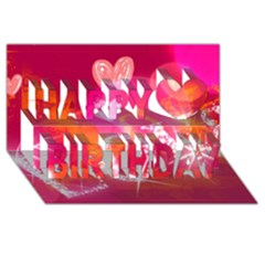 Love Happy Birthday 3d Greeting Card (8x4)  by SugaPlumsEmporium