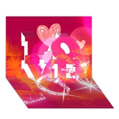 Love Love 3d Greeting Card (7x5)  by SugaPlumsEmporium