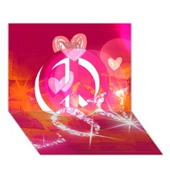 Love Peace Sign 3d Greeting Card (7x5)