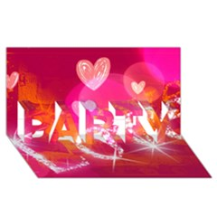 Love Party 3d Greeting Card (8x4)  by SugaPlumsEmporium