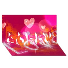 Love Sorry 3d Greeting Card (8x4)