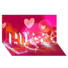 Love Hugs 3d Greeting Card (8x4)  by SugaPlumsEmporium