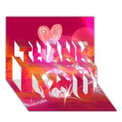 Love Thank You 3d Greeting Card (7x5)  by SugaPlumsEmporium