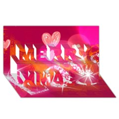 Love Merry Xmas 3d Greeting Card (8x4)  by SugaPlumsEmporium