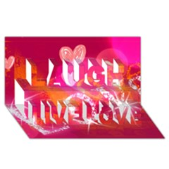 Love Laugh Live Love 3d Greeting Card (8x4)  by SugaPlumsEmporium