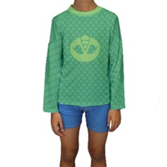 Pj Masks Gekko Kid s Long Sleeve Swimwear by rocketmommy