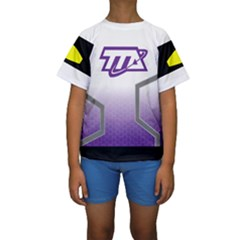 Loretta   Miles From Tomorrowland Kid s Short Sleeve Swimwear by rocketmommy