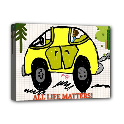 All Life Matters! Deluxe Canvas 16  X 12   by SugaPlumsEmporium