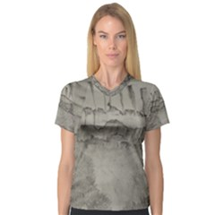 Peace In The Valley  Women s V Neck Sport Mesh Tee