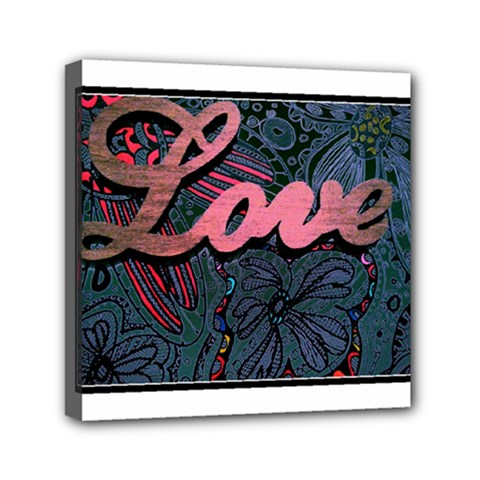 Love! Mini Canvas 6  X 6  by SugaPlumsEmporium