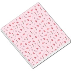 Cute Pink Birds And Flowers Pattern Small Memo Pads by TastefulDesigns