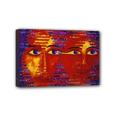 Conundrum Iii, Abstract Purple & Orange Goddess Mini Canvas 6  X 4  by DianeClancy