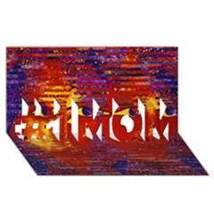 Conundrum Iii, Abstract Purple & Orange Goddess #1 Mom 3d Greeting Cards (8x4)  by DianeClancy