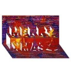 Conundrum Iii, Abstract Purple & Orange Goddess Merry Xmas 3d Greeting Card (8x4)  by DianeClancy