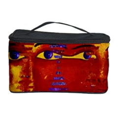 Conundrum Iii, Abstract Purple & Orange Goddess Cosmetic Storage Cases by DianeClancy