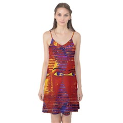 Conundrum Iii, Abstract Purple & Orange Goddess Camis Nightgown by DianeClancy