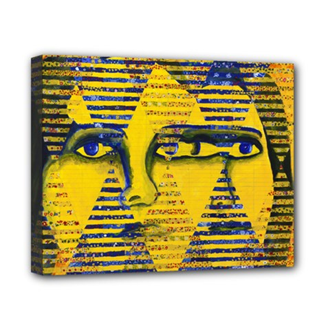 Conundrum Ii, Abstract Golden & Sapphire Goddess Canvas 10  X 8  by DianeClancy