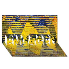 Conundrum Ii, Abstract Golden & Sapphire Goddess Engaged 3d Greeting Card (8x4)  by DianeClancy