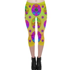 Floral Love And Why Not In Neon Capri Leggings