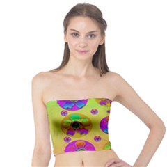 Floral Love And Why Not In Neon Tube Top