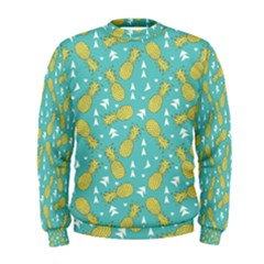 Summer Pineapples Fruit Pattern Men s Sweatshirt