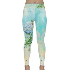 Watercolor Fresh Flowery Background Yoga Leggings by TastefulDesigns