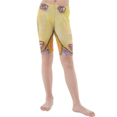 Portrait Of Archangel Michael, Spiritual Chalks Drawing Kid s Mid Length Swim Shorts by yoursparklingshop