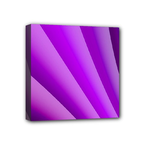 Gentle Folds Of Purple Mini Canvas 4  X 4  by FunWithFibro