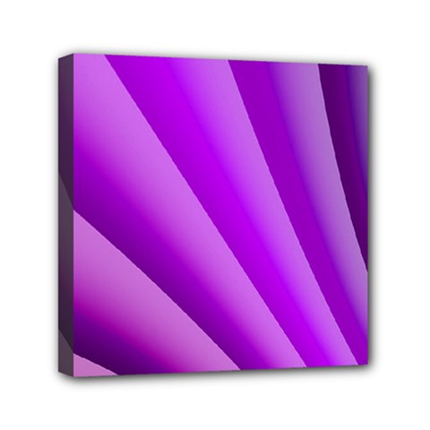 Gentle Folds Of Purple Mini Canvas 6  X 6  by FunWithFibro