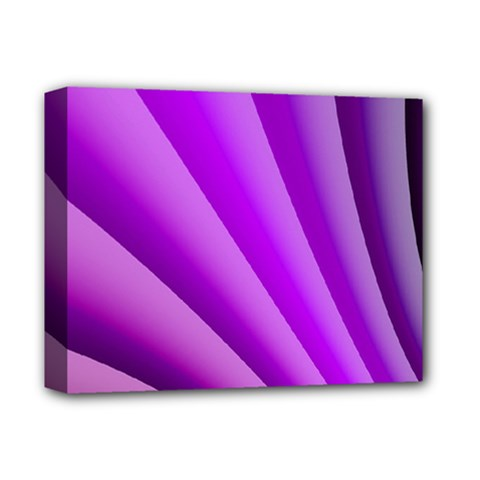 Gentle Folds Of Purple Deluxe Canvas 14  X 11  by FunWithFibro