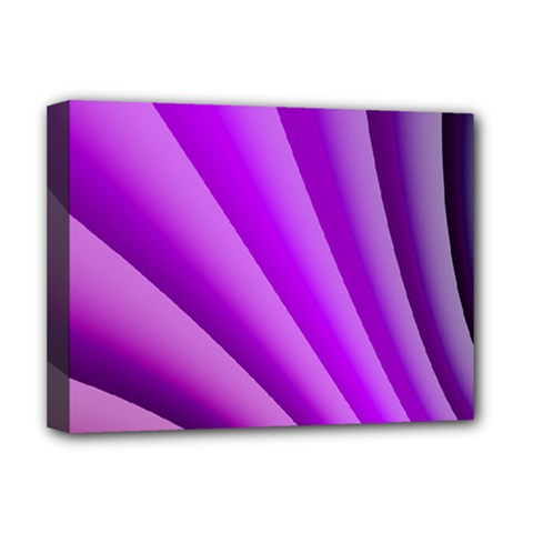 Gentle Folds Of Purple Deluxe Canvas 16  X 12   by FunWithFibro