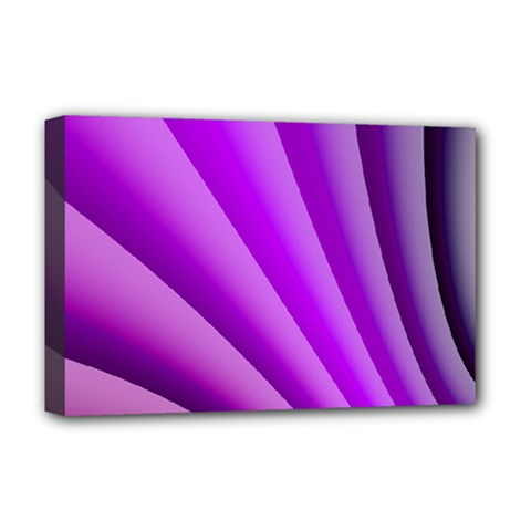 Gentle Folds Of Purple Deluxe Canvas 18  X 12   by FunWithFibro