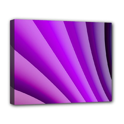 Gentle Folds Of Purple Deluxe Canvas 20  X 16   by FunWithFibro