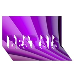 Gentle Folds Of Purple Best Sis 3d Greeting Card (8x4)