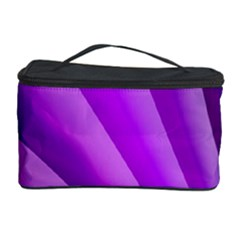 Gentle Folds Of Purple Cosmetic Storage Cases by FunWithFibro