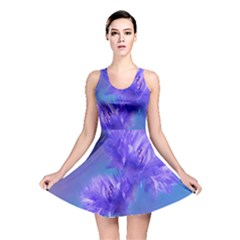 Flowers Cornflower Floral Chic Stylish Purple  Reversible Skater Dress by yoursparklingshop
