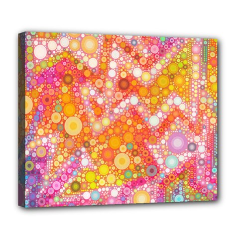 Sunshine Bubbles Deluxe Canvas 24  X 20   by KirstenStar