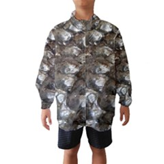Festive Silver Metallic Abstract Art Wind Breaker (kids) by yoursparklingshop