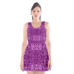 Lion In Purple Scoop Neck Skater Dress