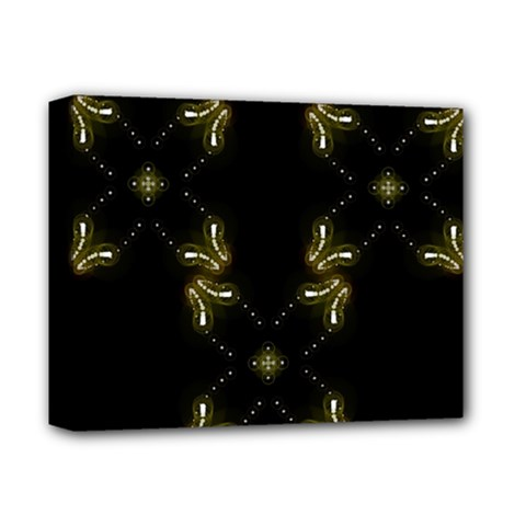 Festive Black Golden Lights  Deluxe Canvas 14  X 11  by yoursparklingshop