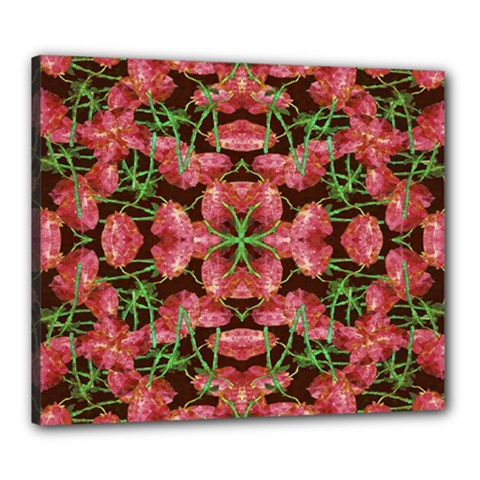Floral Collage Pattern Canvas 24  X 20  by dflcprints