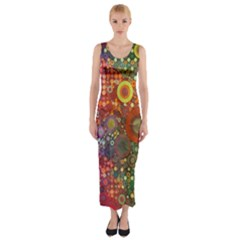Circle Fantasies Fitted Maxi Dress