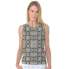 Interlace Arabesque Pattern Women s Basketball Tank Top by dflcprintsclothing