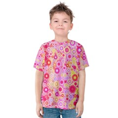 Sweet Pink Bubbles Kid s Cotton Tee by KirstenStar