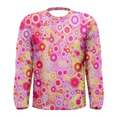 Sweet Pink Bubbles Men s Long Sleeve Tee by KirstenStar